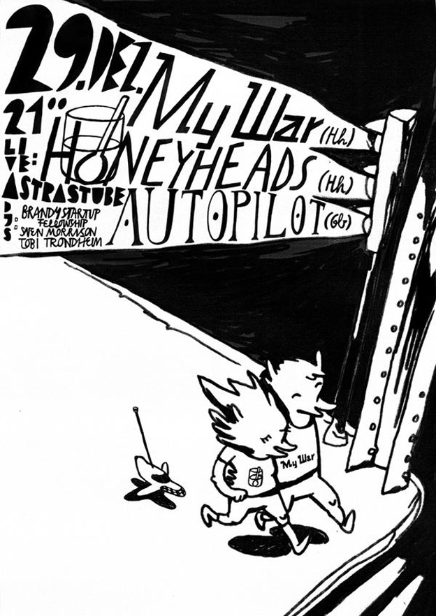 poster for my first gig with Honeyheads; by e_mol