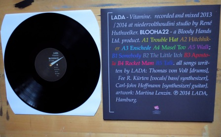 LADA – 'Vitamine', sleeve back, LP side B /photo