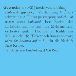 niedervolthoudini – 'Gewuchs', digital album /file
