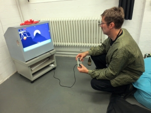 'Cry Shark' by Till D. Thomas; player: James Turek; location: Centro Sociale