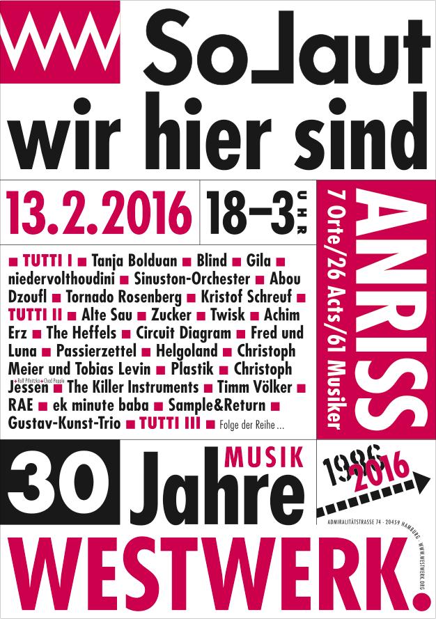 Plakat/Flyer: WESTWERK